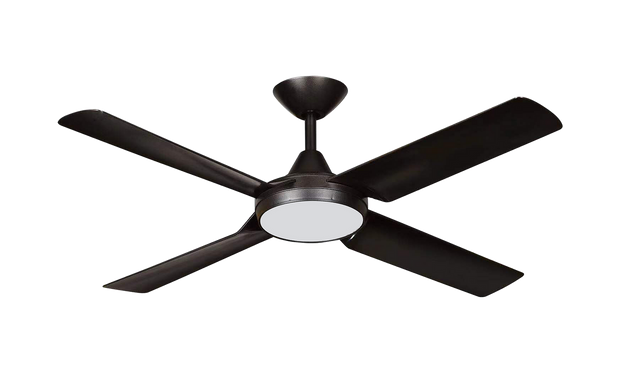 New Image 52 DC Ceiling Fan Black - 18w LED Light