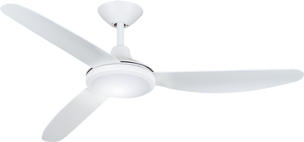 Polar 56 DC Ceiling Fan White - 18w LED Light