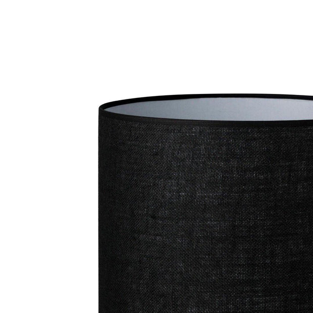 6.6.12 Cylinder Lamp Shade - C2 Black Hessian - Lighting Superstore