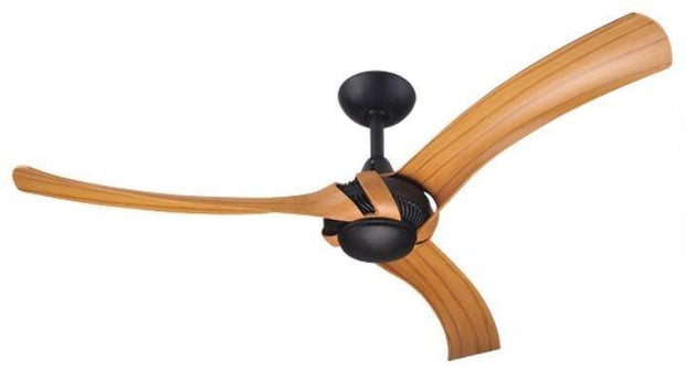 Aeroforce 2 52 Ceiling Fan Black and Bamboo - Lighting Superstore