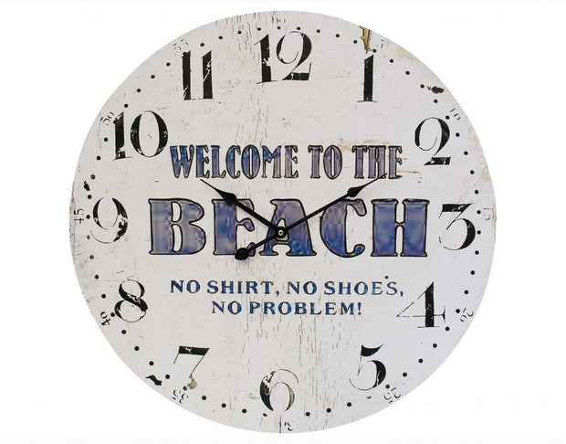 Welcome to the Beach Clock Large - Lighting Superstore