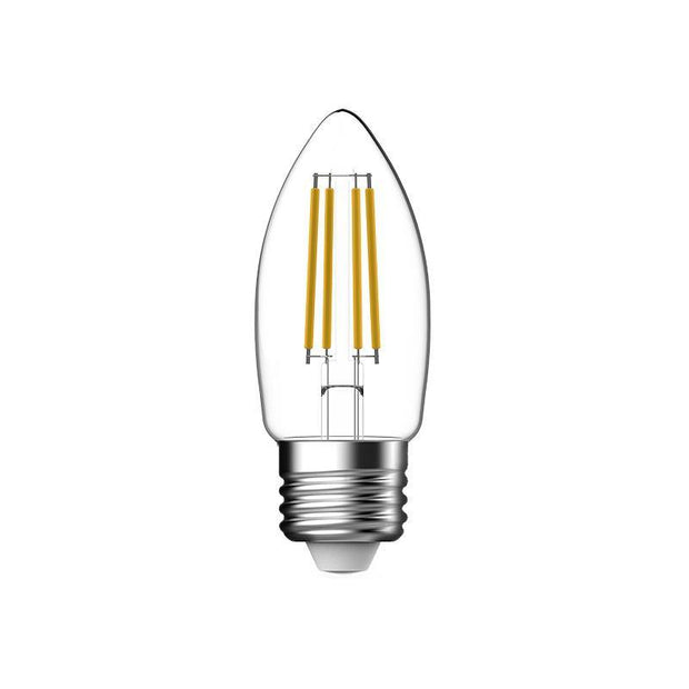 4.8w Edison Screw (ES/E27) LED Warm White Dimmable Filament Candle - Lighting Superstore