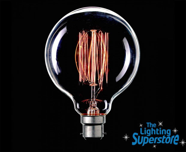 25w Bayonet (BC) G95 Carbon Filament Globe - Lighting Superstore