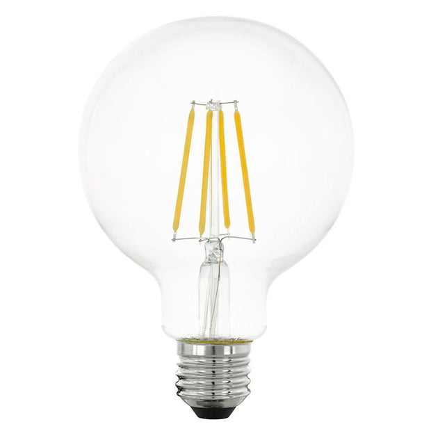 4w Edison Screw (ES) LED Carbon Filament G95 Cool White - Lighting Superstore