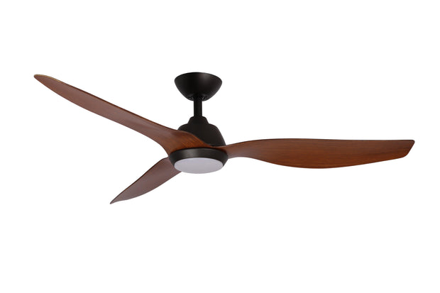 Malibu 52 DC Ceiling Fan Walnut with LED Light