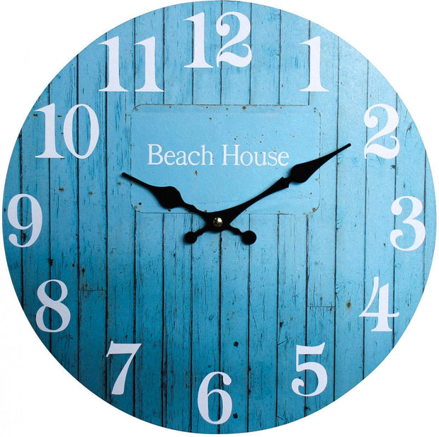 Aqua Beach House Clock - Lighting Superstore