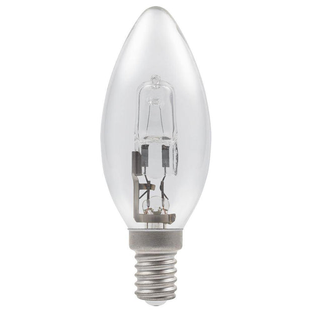 18w = 25w Small Edison Screw (SES) Clear Candle Energy Saving Halogen - Lighting Superstore