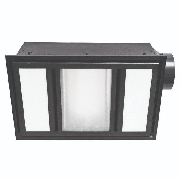 Domino 3-in-1 Exhaust Fan Black - Lighting Superstore