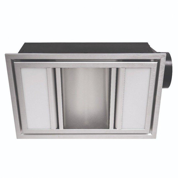 Domino 3-in-1 Exhaust Fan Silver - Lighting Superstore