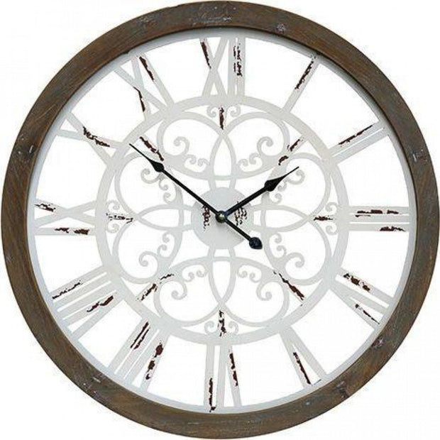 White and Timer Interiors View Clock - Lighting Superstore