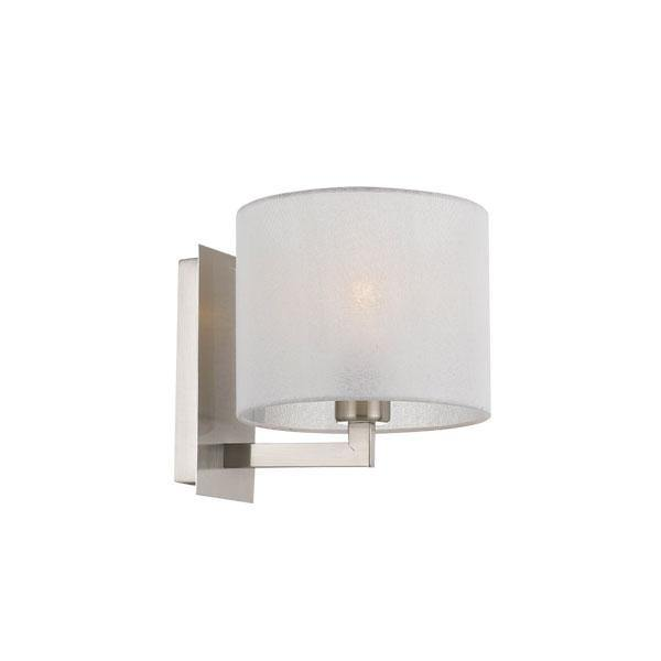 Elgar Wall Light Nickel with Shade
