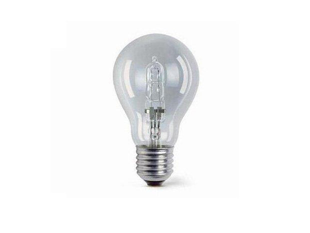 42w = 60w Edision Screw (ES) Clear Energy Saving Halogen GLS - Lighting Superstore