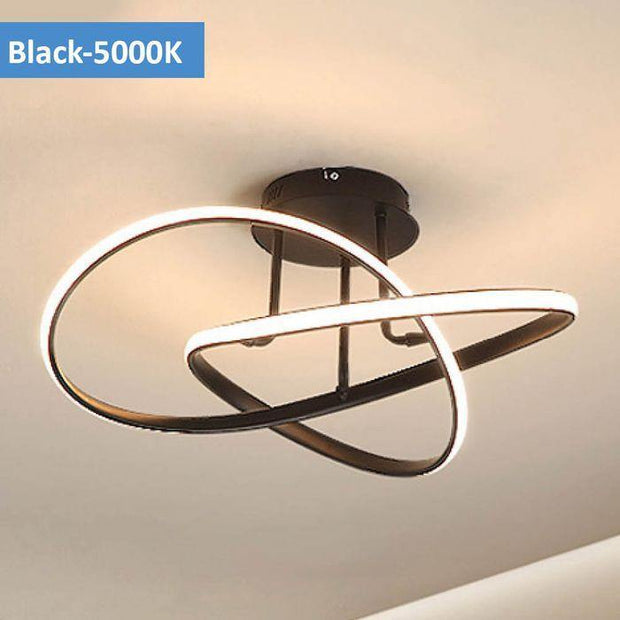 Suko LED Close to Ceiling Light Black - Daylight - Lighting Superstore