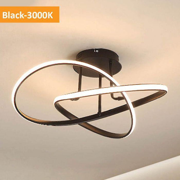 Suko LED Close to Ceiling Light Black - Warm White - Lighting Superstore