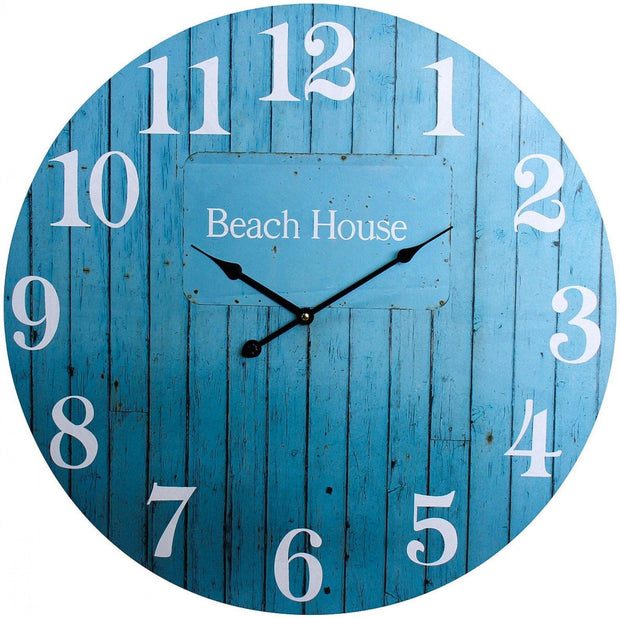 Aqua Beach House Clock Large - Lighting Superstore