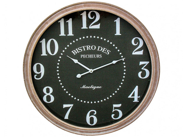 Bistro Framed Black Clock - Lighting Superstore