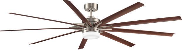 Odyn 84 DC Ceiling Fan Nickel and Walnut - Lighting Superstore