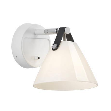 Strap 15 Wall Light White Glass - Lighting Superstore