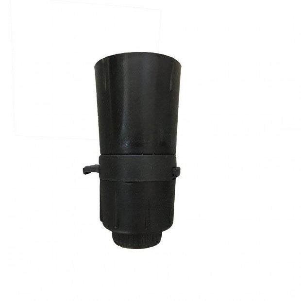Lampholder 10mm Black with Switch - Lighting Superstore