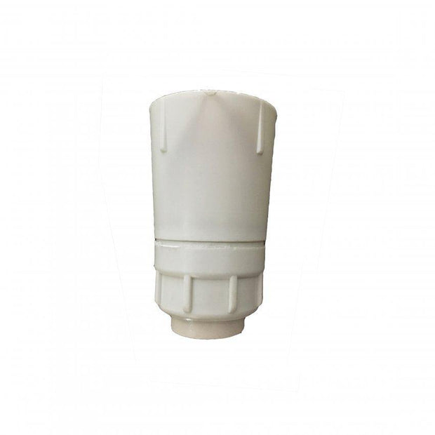 Lampholder 1/2 inch White with Switch