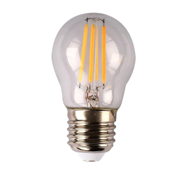 4w Dimmable Edison Screw (ES) LED Daylight Filament Fancy Round - Lighting Superstore