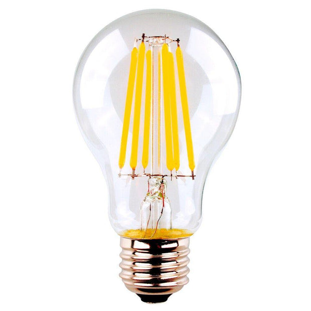 8w Edison Screw (ES) LED Warm White 950lms A60 Classic Dimmable Clear Filament - Lighting Superstore