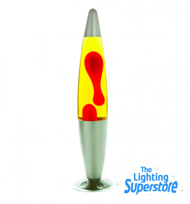 Silver - Red/Yellow Peace Lava Lamp