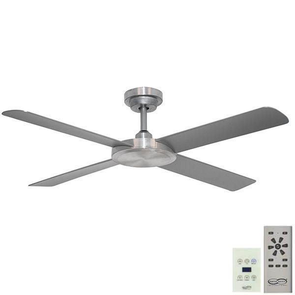 Pinnacle 52 DC Ceiling Fan Brushed Aluminium