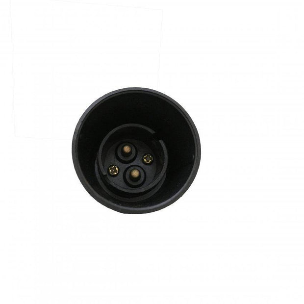 Lampholder 10mm Black with Switch