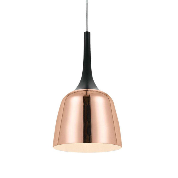 Polk Pendant Light Black and Copper Small - Lighting Superstore