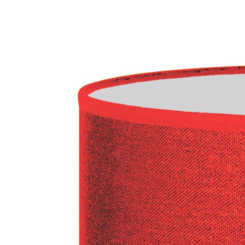12.12.9 Cylinder Lamp Shade - C2 Red Hessian - Lighting Superstore