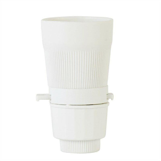 Lampholder 10mm White with Switch - Lighting Superstore