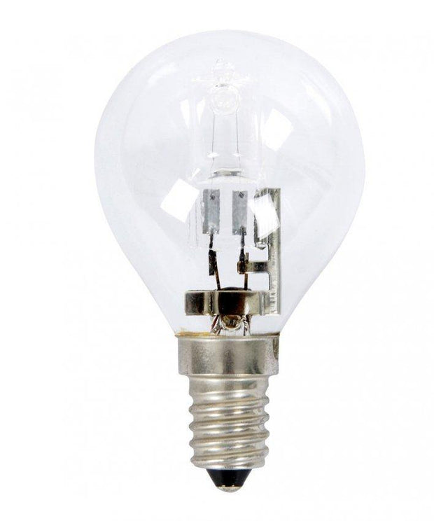 28w = 40w Small Edison Screw (SES) Clear Fancy Round Energy Saving Halogen - Lighting Superstore