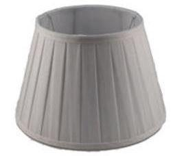 8.12.8 Pleated Drum Lamp Shade - White