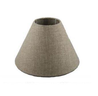 6.18.12 Tapered Lamp Shade - Black Suede