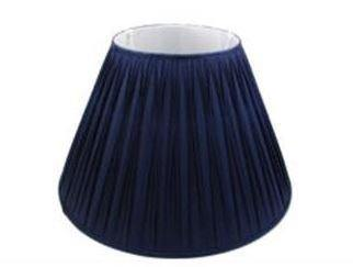 5.12.9 Pleated Lamp Shade - Dark Blue - Lighting Superstore