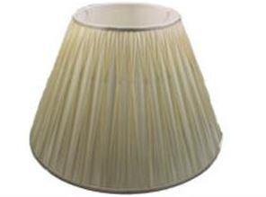 9.20.13 Pleated Lamp Shade - White