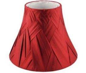 10.20.15 Woven Lamp Shade - Red - Lighting Superstore