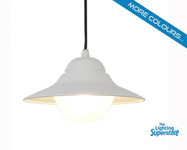 Spy Exterior Pendant Light White - Lighting Superstore
