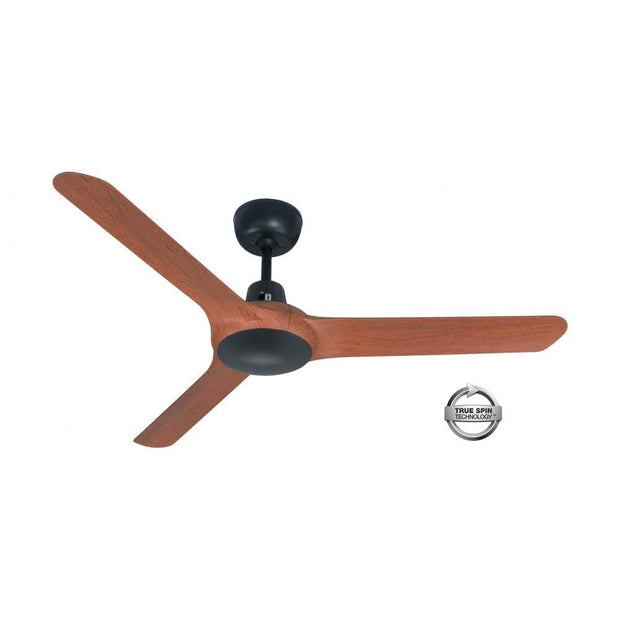 Spyda 56 Ceiling Fan Black and Teak