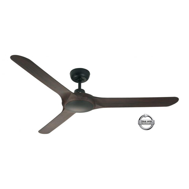 Spyda 56 Ceiling Fan Black and Walnut