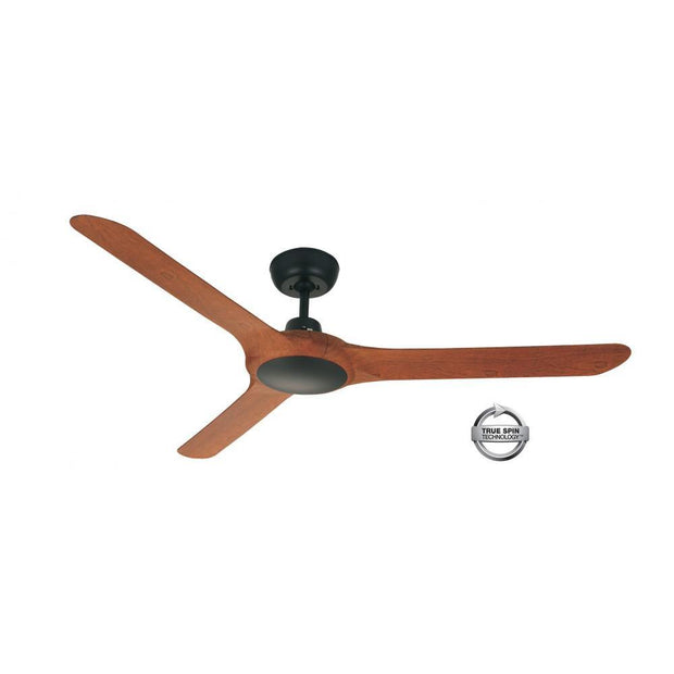 Spyda 62 Ceiling Fan Black and Teak - Lighting Superstore