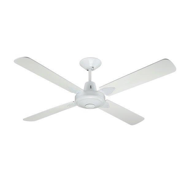 Typhoon 52 Ceiling Fan White Timber Blades - Lighting Superstore