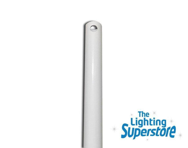 White 900mm Extension Rod - Intercept, Concept, Revolution, Aeroforce - Lighting Superstore