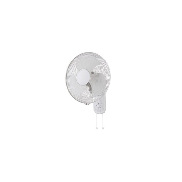 Zephyr II Wall Fan with Pull Cord White