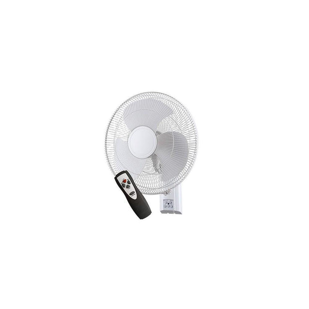 Zephyr II Wall Fan with Remote Control White