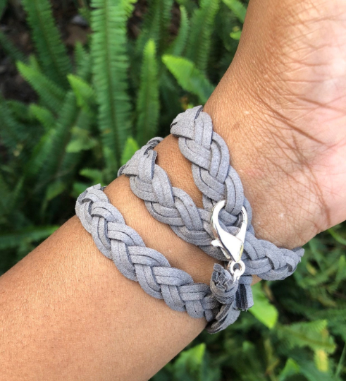 grey suede apple watch wrap band