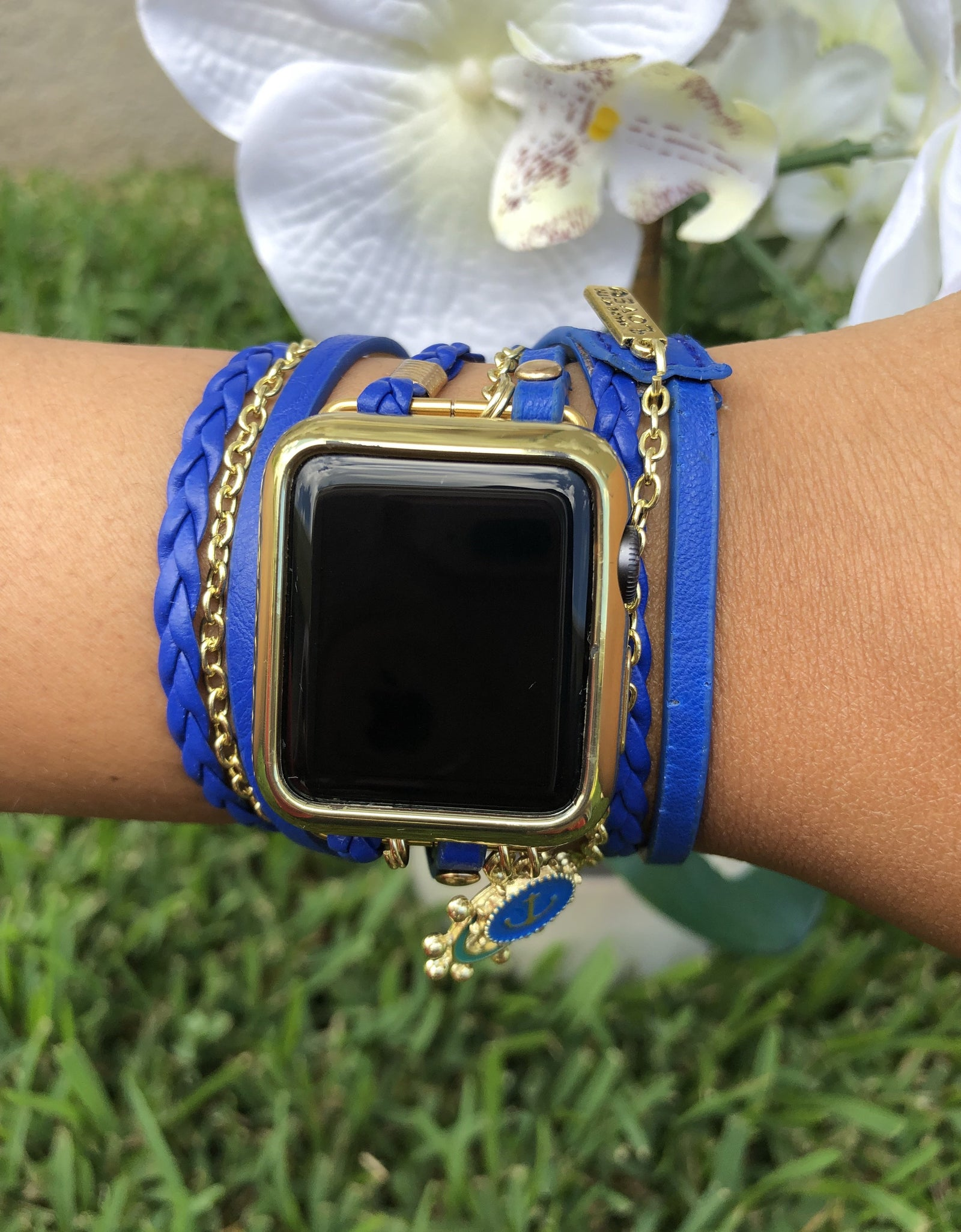 Blue Boho Chic Wrap Apple Watch Band