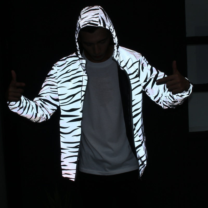 Zebra Reflective Windbreaker Jacket