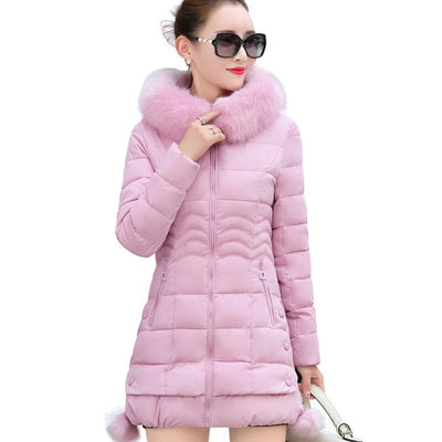 Faux Womens Parka